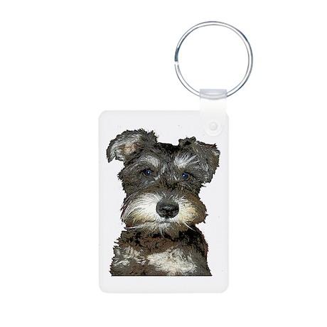 Puppy Aluminum Photo Keychain