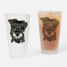 Mini Schnauzer Drinking Glass
