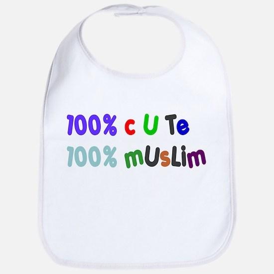 100% cute 100% muslim Bib