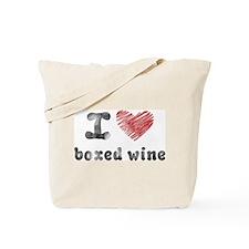 I Love Boxed Wine Tote Bag