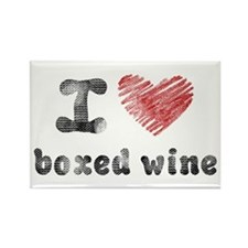 I Love Boxed Wine Rectangle Magnet
