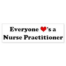 Loves a Nurse Practitioner Bumper Bumper Sticker