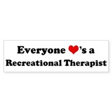 Loves a Recreational Therapis Bumper Car Sticker