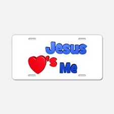 Jesus Loves Me Aluminum License Plate