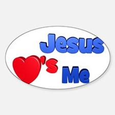 Jesus Loves Me Sticker (Oval)