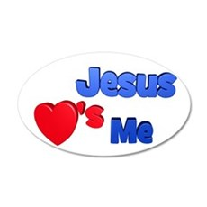 Jesus Loves Me 22x14 Oval Wall Peel