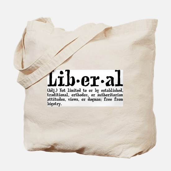 Definition of Liberal Tote Bag