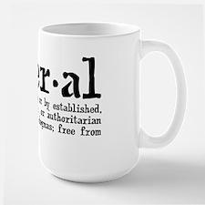 Definition of Liberal Large Mug