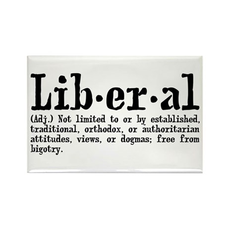 Definition of Liberal Rectangle Magnet (10 pack)
