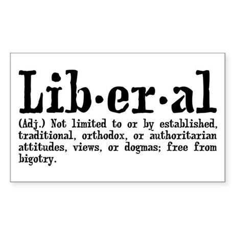 Definition of Liberal Sticker (Rectangle)