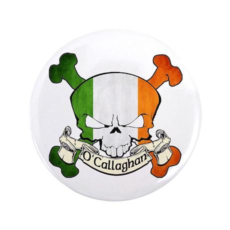 """O'Callaghan Skull 3.5"""" Button"""