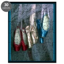 Ballet slippers in red, pink and blue Puzzle