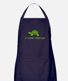 I Like Turtles Apron (dark)
