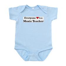 Loves a Music Teacher Infant Creeper