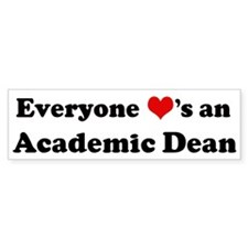 Loves a Academic Dean Bumper Car Sticker