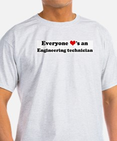 Loves a Engineering technicia Ash Grey T-Shirt