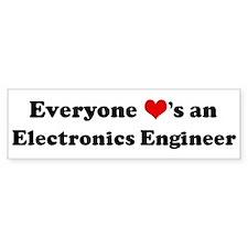 Loves a Electronics Engineer Bumper Bumper Sticker
