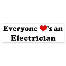 Loves a Electrician Bumper Bumper Sticker