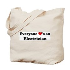 Loves a Electrician Tote Bag