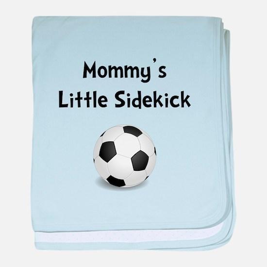 Mommy's Sidekick Soccer baby blanket