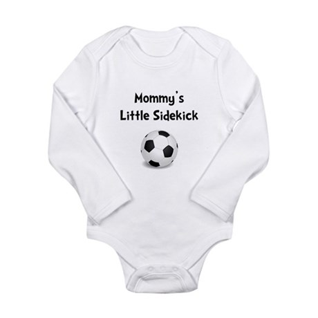 Mommy's Sidekick Soccer Long Sleeve Infant Bodysui