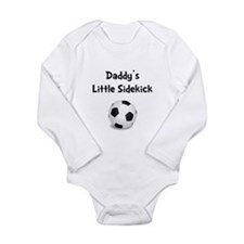 Daddy's Sidekick Soccer Long Sleeve Infant Bodysui