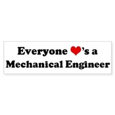 Loves a Mechanical Engineer Bumper Bumper Sticker