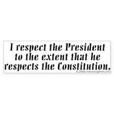 respect Bumper Car Sticker