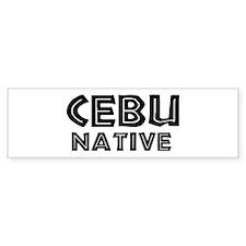 Cebu Native Bumper Bumper Sticker