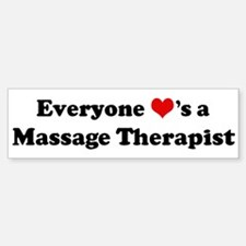 Loves a Massage Therapist Bumper Car Car Sticker