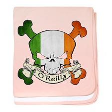 O'Reilly Skull baby blanket