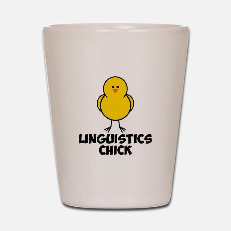 Linguistics Chick Shot Glass