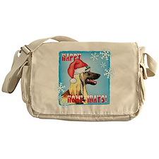 Holiday Afghan Hound Messenger Bag