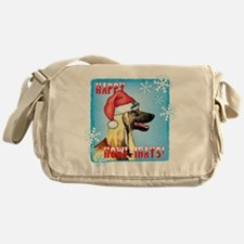 Holiday Afghan Hound Messenger Bag