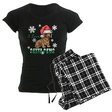 Holiday Dachshund Pajamas