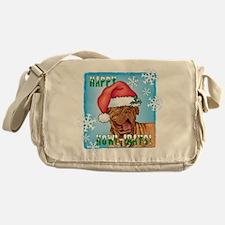 Holiday Dogue de Bordeaux Messenger Bag