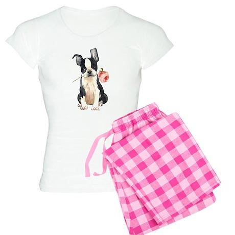 Boston Terrier Rose Women's Light Pajamas