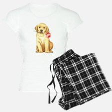 Yellow Lab Rose Pajamas