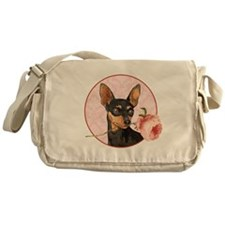 Min Pin Rose Messenger Bag
