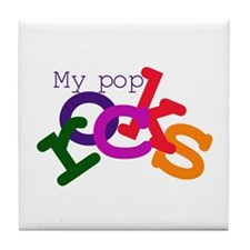 My Pop Rocks Tile Coaster