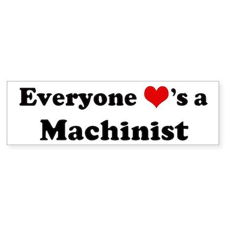 Loves a Machinist Bumper Sticker
