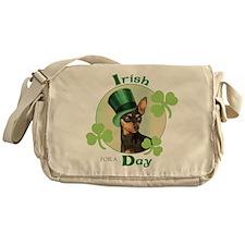 St. Patrick Min Pin Messenger Bag