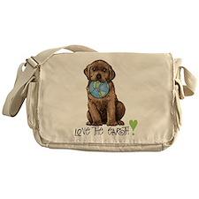 Earth Day Labrador Messenger Bag