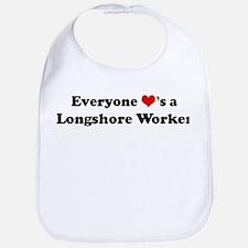 Loves a Longshore Worker Bib