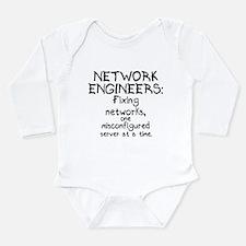 Network Engineers Long Sleeve Infant Bodysuit