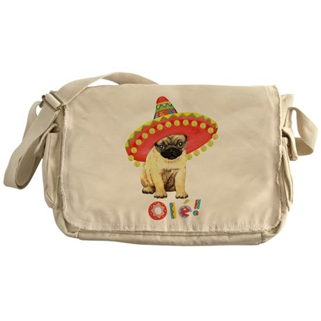 Fiesta Pug Messenger Bag