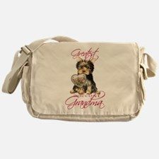 Yorkie Grandma Messenger Bag