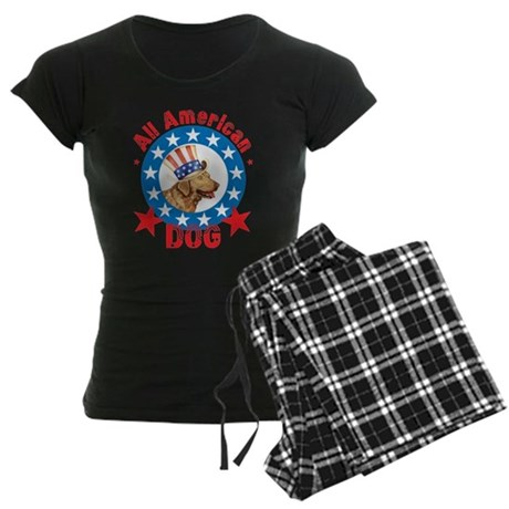 Patriotic Chessie Women's Dark Pajamas