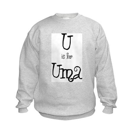 U Is For Uma Kids Sweatshirt