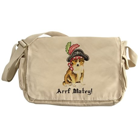 Sheltie Pirate Messenger Bag